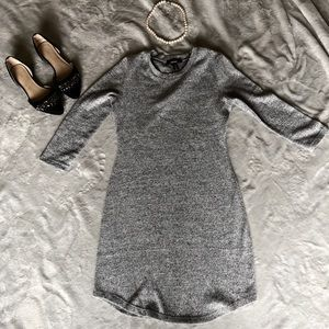 Heather grey cozy bodycon mini dress